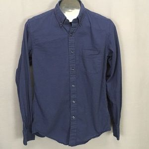 J Crew Button Front Casual Shirt Small Blue Mens